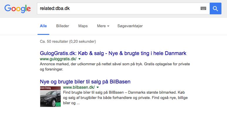 Related-google-søgning